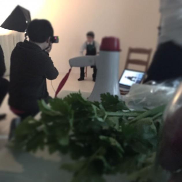 撮影小屋で野菜ソムリエさんとそのプロデューサーと出会うの巻