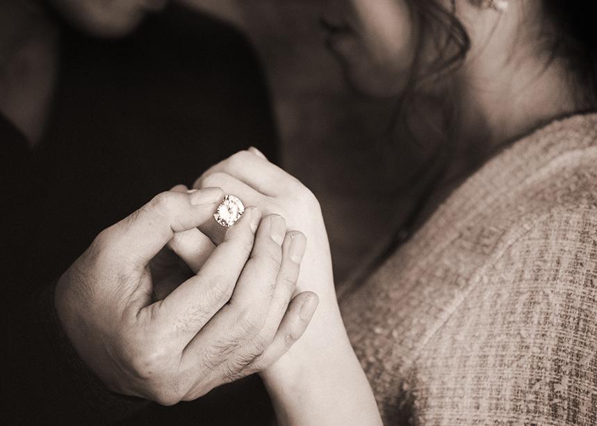 写真館でのプロポーズ